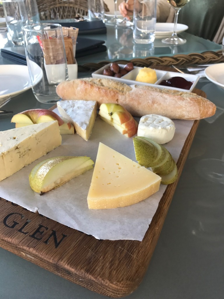 Cheese Platter at Constantia Glen