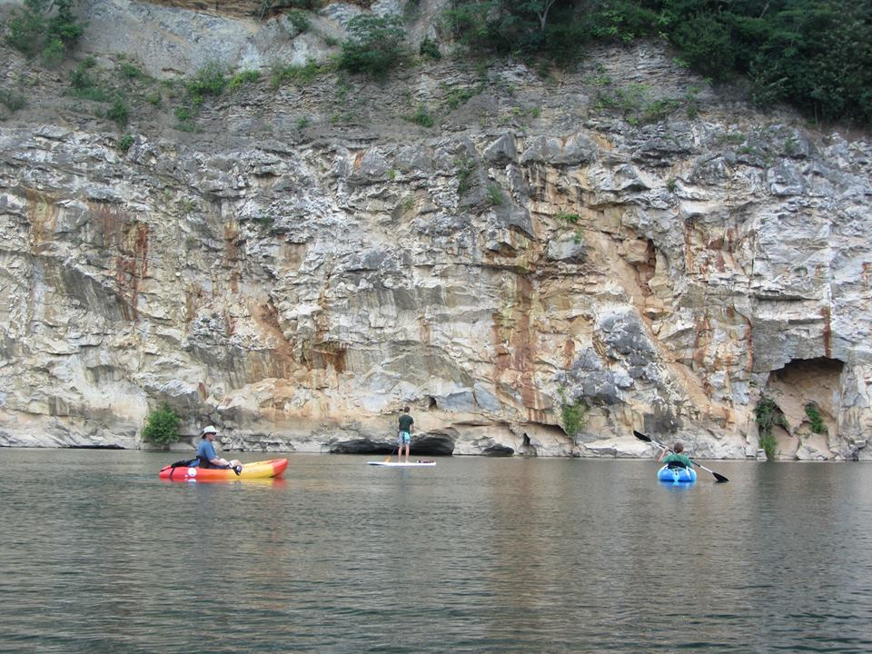 Kayaking on Mead's Quarry