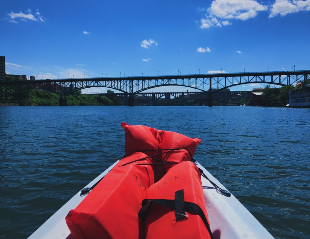 Kayaking on the Tennessee River in Knoxville