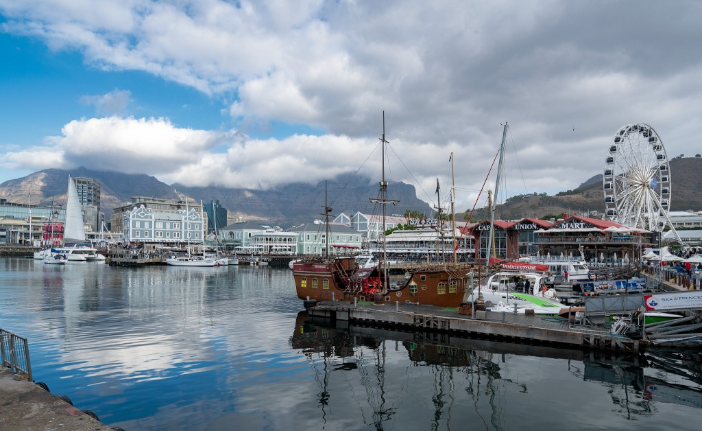 View of the Waterfront in Cape Town from Balducci's restaurant