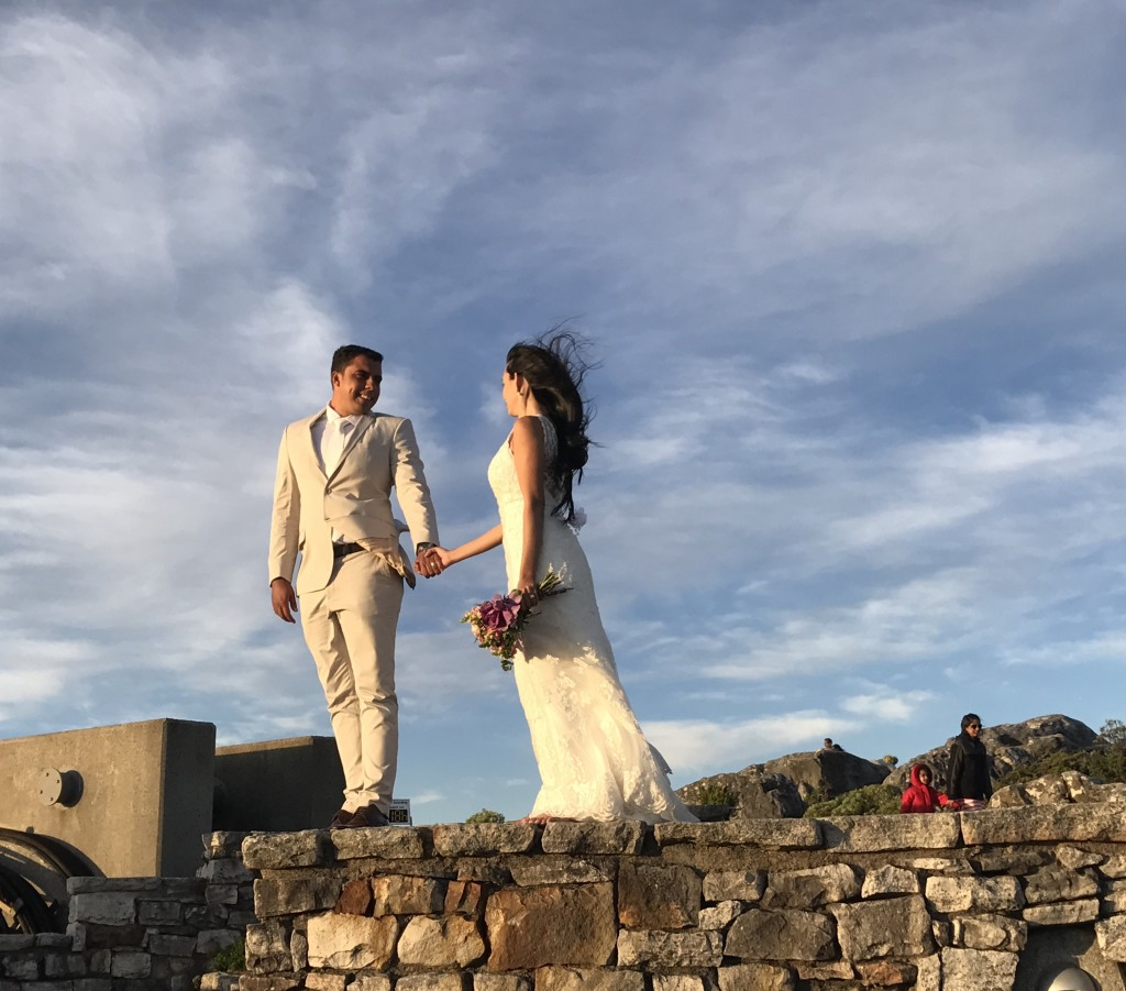 Bride and Groom on Table Mountain